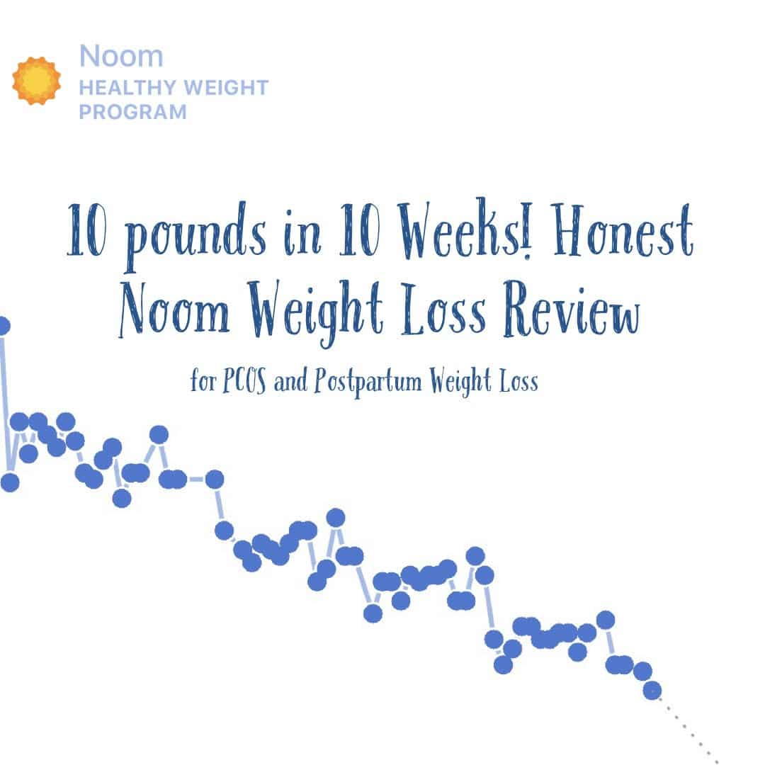 My honest review of the Noom program for weight loss! I'm finally losing postpartum weight with PCOS and Hashimotos