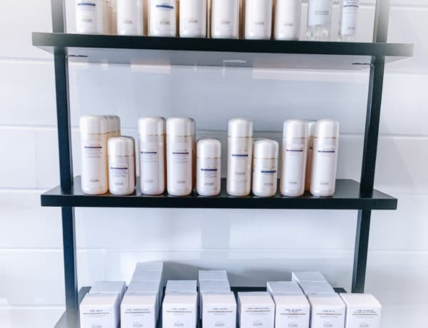 Picture of this holy grail skincare top shelfie! So many Biologique Recherche Lotion P50s and Lait Face Cleansers to choose from!